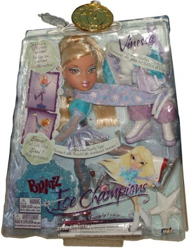 Bratz Ice Champions French Edition - Vinessa with Tons of Cool Winter Gear and Bonus Mini Ice Rink