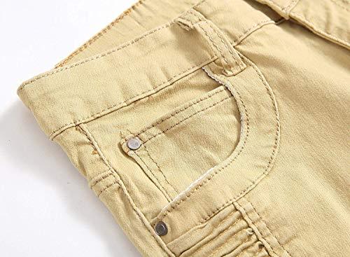 Vita Khaki E Uomo Elasticizzati Da Vintage Jeans Moto A Alti Dritti Alta Huixin Skinny wxqgUnBZpW