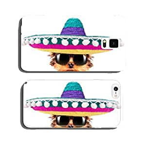 dog wearing a mexican hat cell phone cover case Samsung S6