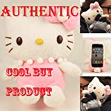 Authentic iPlush Plush Toy Cell Phone Case for iPhone 4 / 4S - Company Direct Sell 100 Percent Authentic (Pink Hello Kitty)