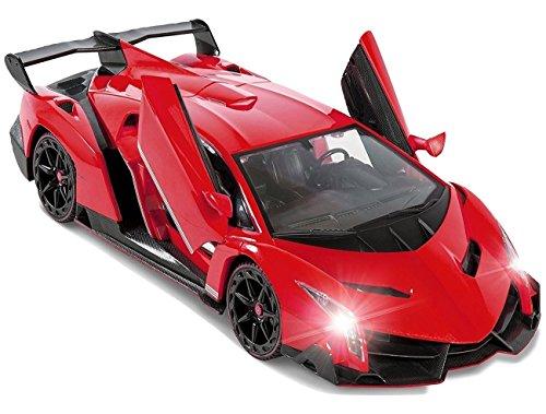 Red Lamborghini Veneno Battery Operated Remote Control Car – Kids Favorite Toy -1/14 Scale