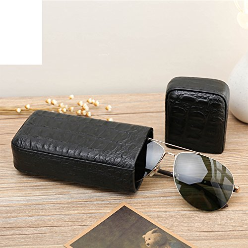 First layer leather portable solar eye sunglasses/glass cigar storage jewelry box by GYAJSGC