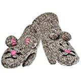 deLux Mimi the Mousey Wool Animal Mittens