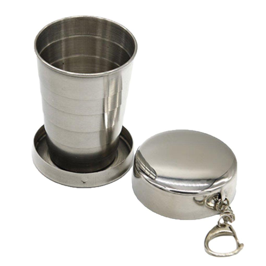 Topker Tasse rétractable pliante en acier inoxydable coupe pliante coupe blackjack