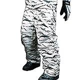 myglory77mall Mens Winter Warm Waterproof Hip Ski Snowboard Military Camo Pants S07 US M