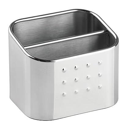 interdesign forma dual kitchen sink sponge and scrubber holder double organizer caddy for sink accessories - Kitchen Sink Accessories