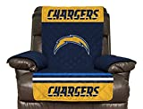 NFL San Diego Chargers Recliner Reversible Furniture Protector with Elastic Straps, 80-inches by 65-inches