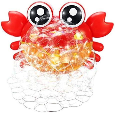 子供 おもちゃ カニバブルマシンミュージカルバブルブロワーメーカーバス7カラフルなライトミュージックベビーキッドバブルマシン バブルおもちゃ (Color : Red, Size : One size)