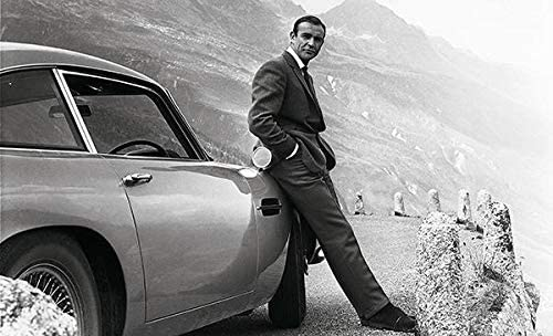 Amazon Com Sean Connery James Bond Aston Martin Db5 Movie Star Portrait Poster Posters Prints