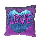 Mermaid Pillowcase, Haoyii Glitter Sequin Cushion Cover Sparkling Throw Pillow Case Pillowslip For Car Bedroom Decorative, 40x40cm