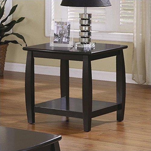 Delicieux Coaster Wood Top Espresso End Table With Bottom Shelf