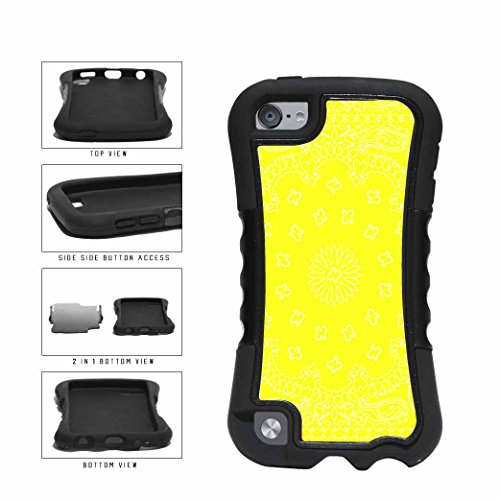 BleuReign(TM) Yellow Bandana Paisley 2-Piece Dual Layer Phone Case Back Cover Apple iPod Touch 5th Generation