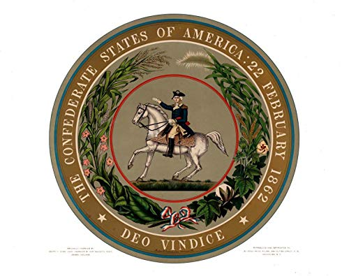 199544 Great Seal of The Confederate States of America Decor Wall 24x18 Poster ()