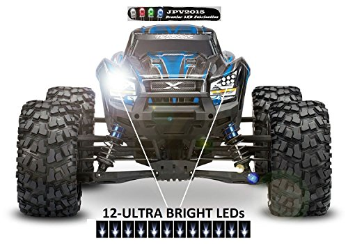 Genuine JPV2015 Product - Traxxas X-MAXX / E-REVO LED Light Kit - 16 LEDs - Premium Quality - Handmade in USA exclusively by JPV2015 E-maxx Rc Truck