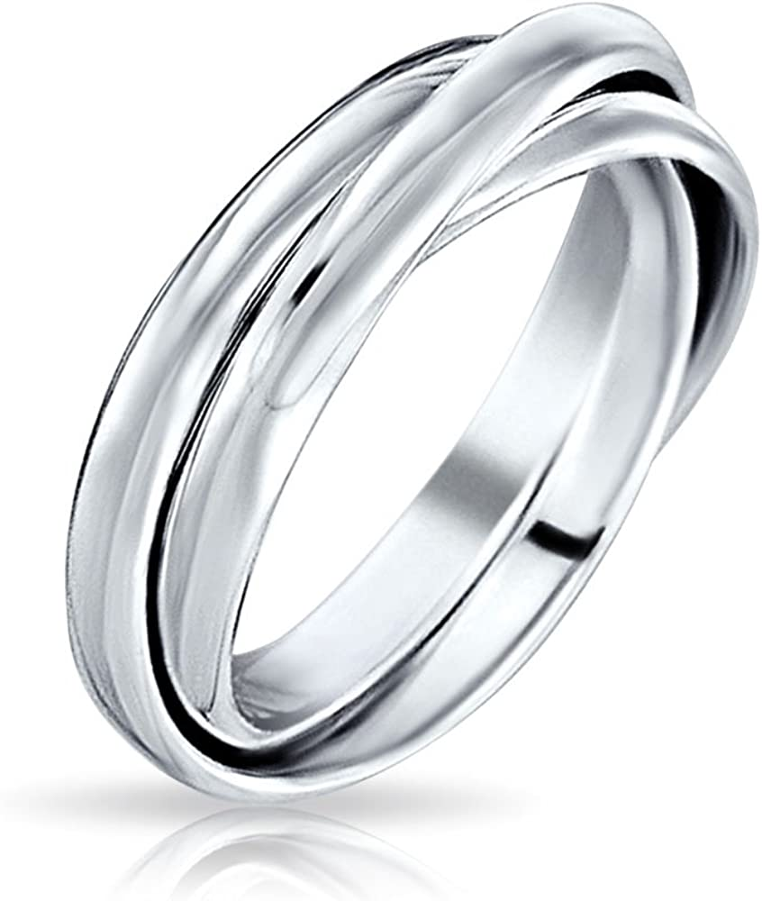 925 Solid Sterling Silver Awesome Russian Wedding Ring With 5 Bands