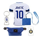 #10 Jovetic (6 in 1 Combo) Inter Milan Away Match Adult Soccer Jersey 2016-17