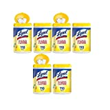 Lysol Dual Action Disinfecting Wipes w. Scrubbing Texture, 600ct (8x75)