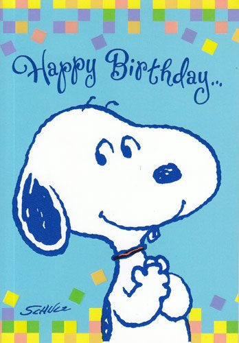 Image Unavailable Not Available For Color Greeting Card Birthday Peanuts