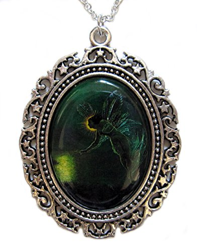 Moon Maiden Jewelry Green Fairy Cameo Pendant]()