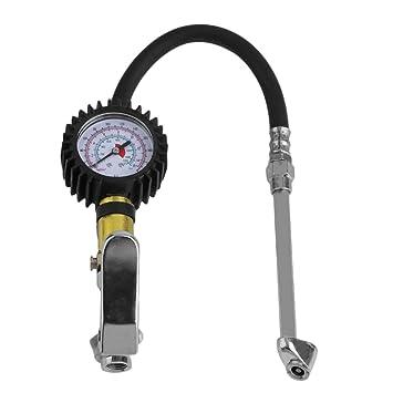 Inflador profesional de aire con manómetro, inflador de ruedas, con manómetro: Amazon.es: Coche y moto