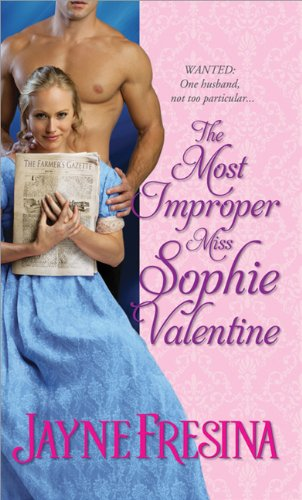 book cover of The Most Improper Miss Sophie Valentine