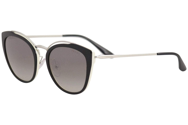84ae8eb29f0d Amazon.com  Prada Women s 0PR 20US Black Ivory Dark Grey Mirror Silver One  Size  Prada  Clothing