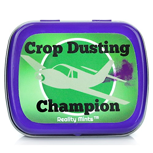 Crop Dusting Champion Mints - Gifts for Friends Weird Stocking Stuffers for Teens Novelty Gifts Peppermint Mints - Funny Dad Gifts White Elephant Ideas Secret Santa Fathers Day