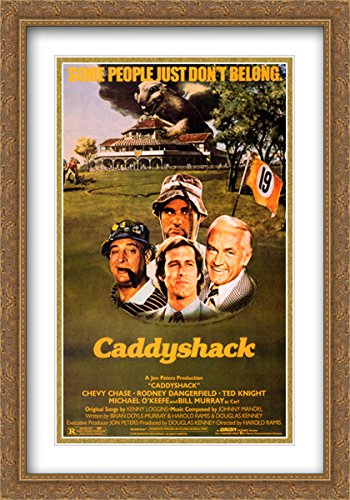 Caddyshack 28x40 Double Matted Large Gold Ornate Framed Movi