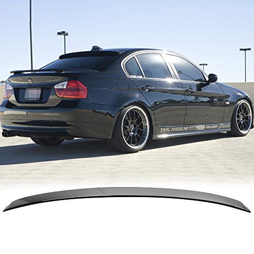 Pre-painted Roof Spoiler Fits 2006-2011 BMW 3 Series | AC Style Painted #475 Black Sapphire ABS Rear Wing Window Roof Top Spoiler other color available by IKON MOTORSPORTS | 2007 (Black Rear Roof Spoiler)