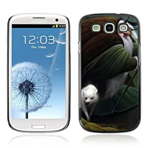 Designer Depo Hard Protection Case for Samsung Galaxy S3 / Old Wizard & Wolf art