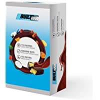 Built Bar 10 Bar Sample Box Energy and Protein Bars - 100% Real Chocolate - High in Whey Protein and Fiber - Gluten Free, Natural Flavoring, No Preservatives (Sampler Box)