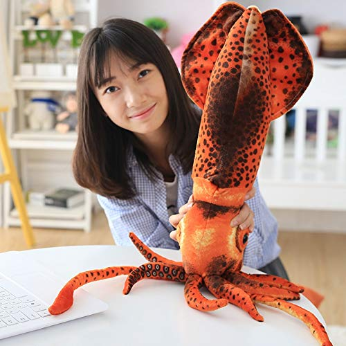 (GOONEE Plush Animal - Simulation Squid Octopus Plush Stuffed Toys Funny Imprint Sea Animals Toy Gift for Women Children Kids - 24 Inch - Mouse Bulk Black Net Fund Realistic Zoo Pillow Blue)