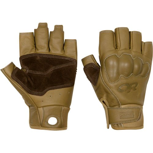 Outdoor Research Men's Handbrake Gloves, Cafe/Earth, M (Belay Glove)