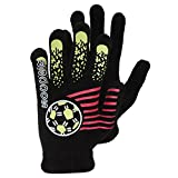 Boys Black Winter Magic Gloves With Rubber Print (Up to 12 years) (Design 4)