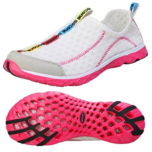 Mixsnow Femmes Slip Sur Sneaker Maille Casual Sports Marchant Plage Aqua Piscine Eau Chaussures Rouge