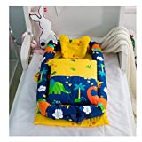 Cotton Detachable Baby Nest,Quilt and Pillow for 0-24 Months Baby (Dinosaur)