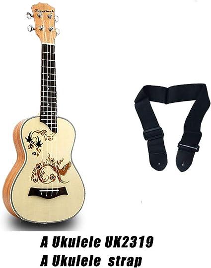 QLJ08 Ukelele de concierto de 23 pulgadas Mini guitarra eléctrica ...
