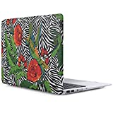 iDOO Soft Touch Hard Plastic Matte Case for MacBook Air 13 inch Model A1369 and A1466 - Striped Rose