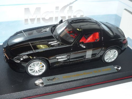 Maisto Mercedes-Benz AMG SLS AMG Mercedes-Benz Gullwing Coupe Schwarz C197 Ab 2009 1/18 Modell Auto 1d7190