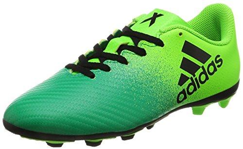 adidas X 16.4 FxG J - Botas de fútbolpara niños, Verde - (VERSOL/NEGBAS/VERBAS), 5 Solar green-Core black