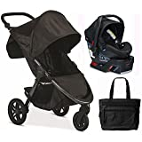 Britax B-Free / B-Safe 35 Infant Baby Stroller Travel System - Midnight with Diaper Bag