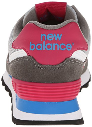New Balance Womens Wl574 Core Plus Collectie Sneaker Grijs / Roze / Wit