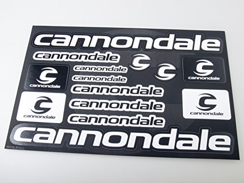 Cannondale Bicycle Frame Decals Stickers Graphic Set Vinyl Adesivi (Fox Race Frame)