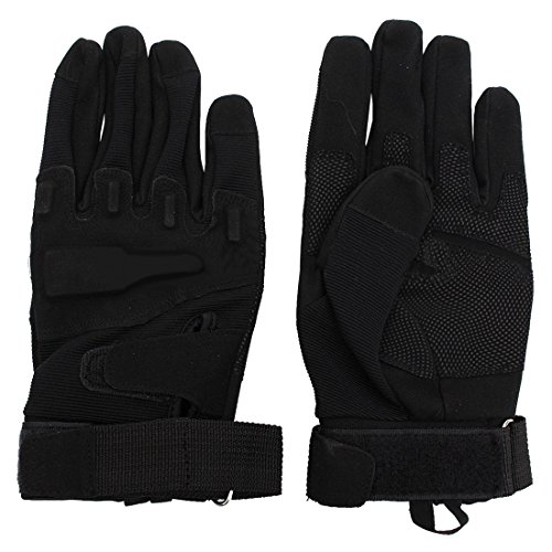 SODIAL(R) Outdoor Motorcycle Full Gloves Army Airsoft Security Guard Army Mit, L, Black