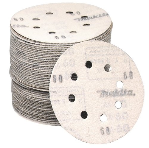 Makita 794518-8 5-Inch 60-Grit Abrasive Disc, 5 Per Package
