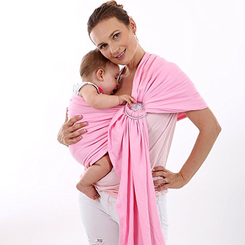 ThreeH Bébé anneau Sling Wrap Coton organique Couverture de couverture  d allaitement BC14,Pink  Amazon.fr  Bébés   Puériculture 1f4723a9cac