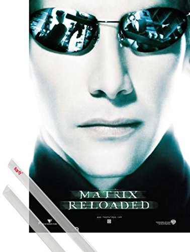 Poster + Hanger: The Matrix Poster (39x28 inches) Reloaded, Neo, Sunglasses And 1 Set Of Transparent 1art1 Poster - Sunglass Neo