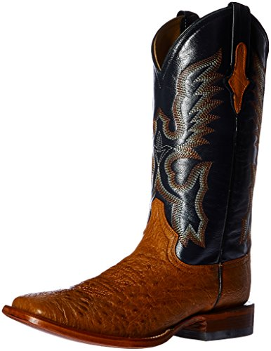 Boot Toe Ostrich Square Western Cognac Men's Cognac Smooth Ferrini Rq0BS7