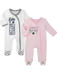 Toronto Maple Leafs Newborn Girls 2nd Period 2-Piece Long Sleeve Coverall Set
