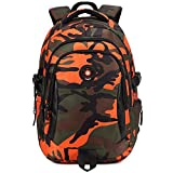Comfysail Camouflage Printed Primary School Nylon Backpack - Ideal for 1-6 Grade School Students Boys Girls Daily Use and Outdoor Activities (Large,...